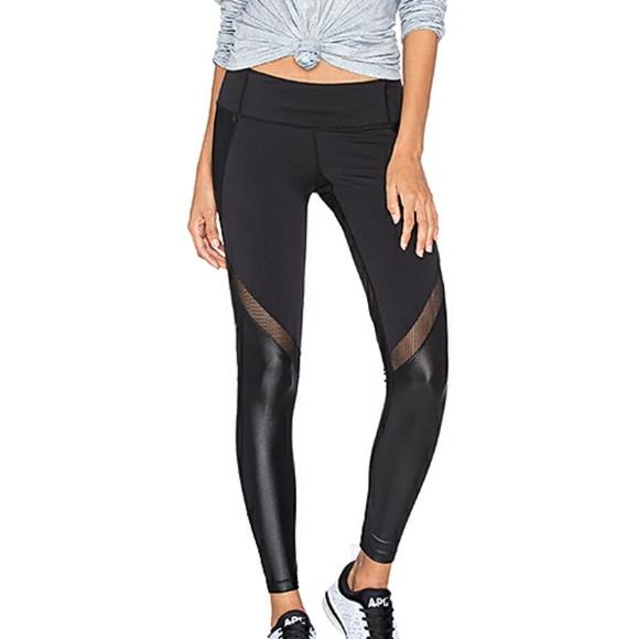 RAG women/'s leggings inset mesh Quick dry size M